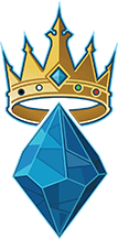 The Ascendant Icon. A blue gem topped with a golden crown.